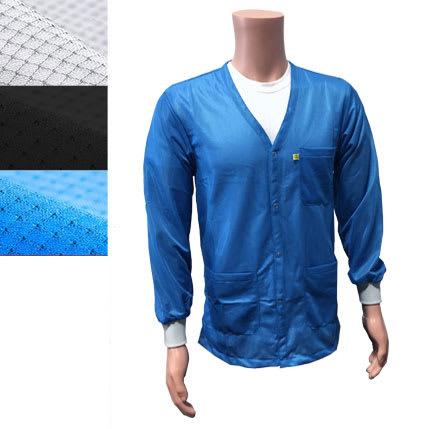 9010 Series ESD jacket V-Neck Knit Cuffs